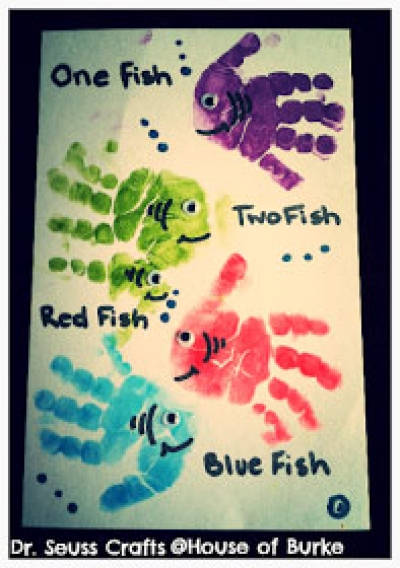 Handprint Craft FIsh