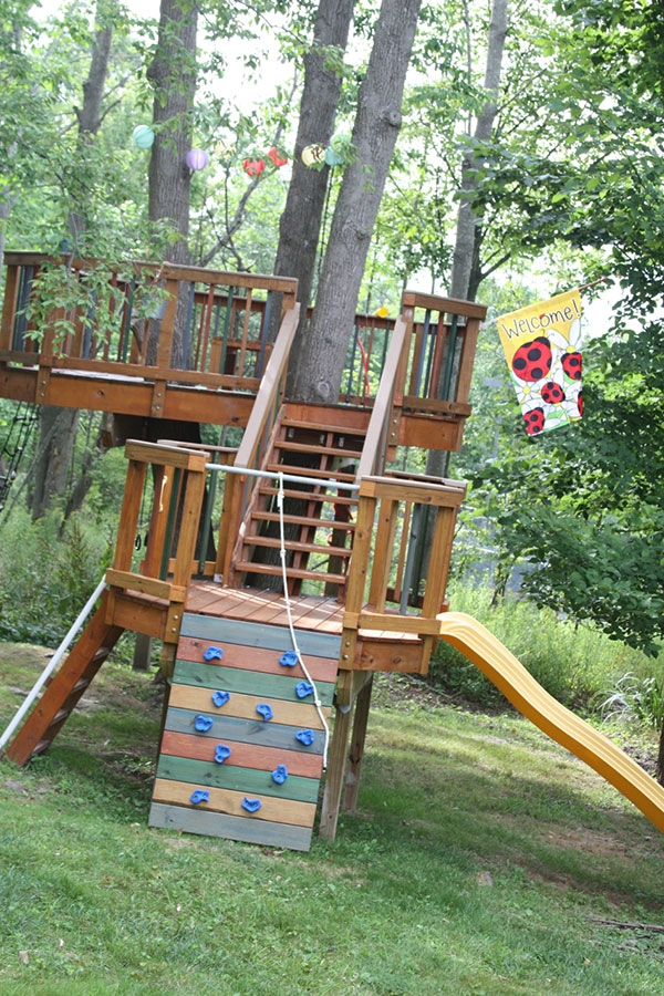 Exceptionnel Follow The Steps And Get Inspiration For Your Kidu0027s Tree House. If You Add  A Climbing Wall, Swing Rope, And Slide It Will Double As A Play Set  Encouraging A ...