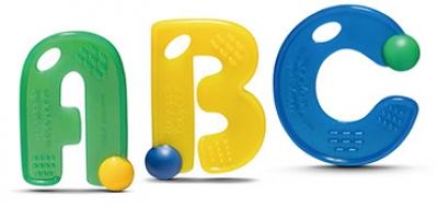 ABC Teething Letters- kiwi Set