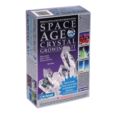 Space Age Crystals Growing Kit Grows 4: Quartz, Emerald, Amethyst, Fluorite