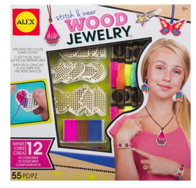 Alex Toys Stitch & Wear Wood Jewelry