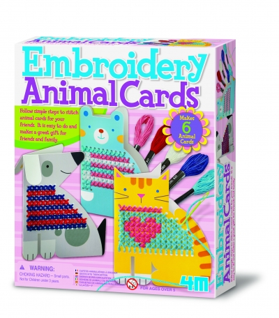 EMBROIDERY ANIMAL CARDS