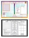 Globe-Traveler Kids! Games Placemat with 2 Washable Markers