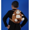 Plush Doll with Attached Backpack