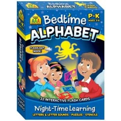 Bedtime Alphabet Night-Time Learning, Interactive Flash Cards
