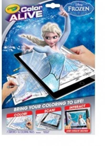 Color Alive Action Coloring Pages- Frozen