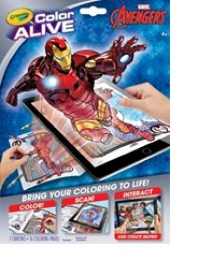 Color Alive Action Coloring Pages- Color Alive Avengers