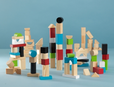 100 Piece Wooden Block Set
