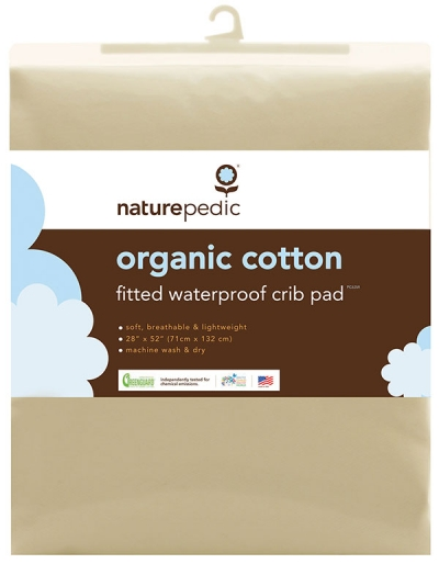 Naturepedic Organic Cotton Fitted Waterproof Crib Pad