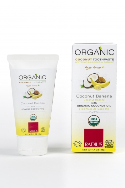 Children's USDA Organic Toothpaste, Coconut Banana
