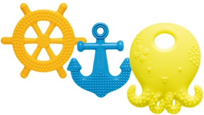 Suri the Octopus & Friends Teething Toys - Lemon Set