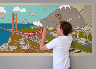 On The Go - GIANT Coloring Murals