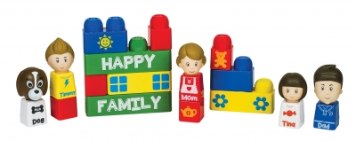 Tutor Blocks - Happy Family 16 pcs