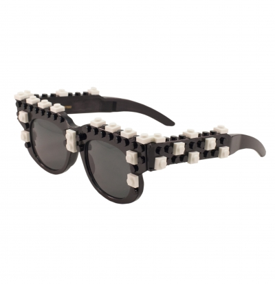 Bricky Blocks Black Glasses by elope