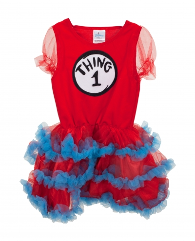 Dr Seuss Thing 1 & 2 Tutu Dress for Kids 3-6