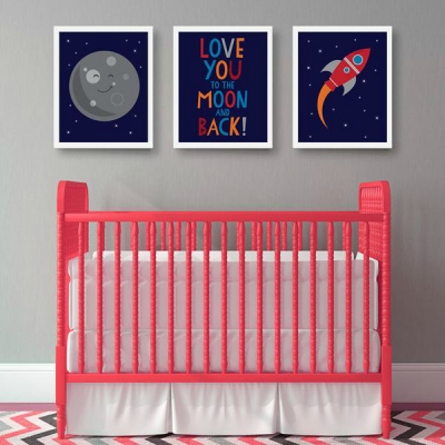 Space-themed nursery from Parade