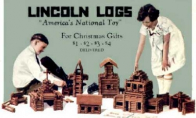 VIntage Lincoln Logs Ad