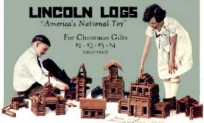 VIntage Lincoln Logs Ad