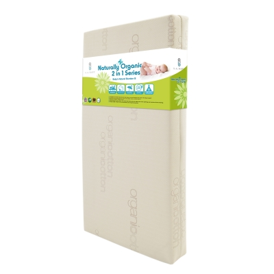 LA Baby Naturally Organic 2 in 1 Series - Baby's Natural Slumber VI Crib Mattress