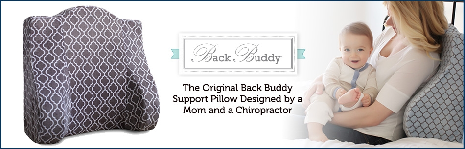 The Original Award-Winning Back Buddy® Support Pillow Designed by a Mom and a Chiropractor