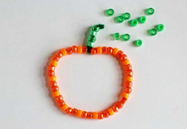 We are seeing so many different shapes and sizes of pumpkins all around our neighborhood. So we thought weu0027d bring some of the pumpkin fun indoors with a ... & Pumpkin Beaded Pipe Cleaners | Creative Child