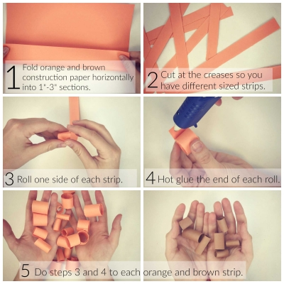 Paper Pumpkin Craft Part 1