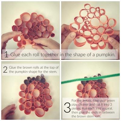 Paper Pumpkin Craft Part 2