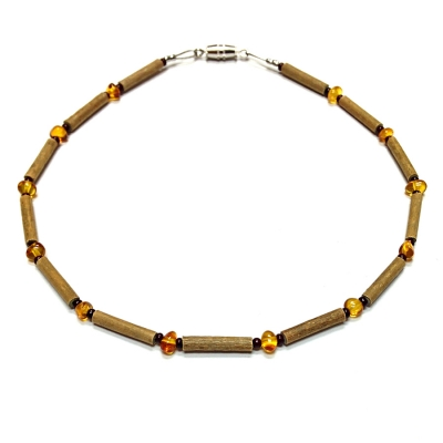 Hazelwood & Amber Teething Necklace