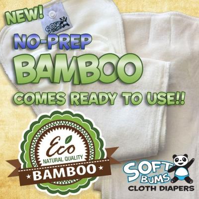 SoftBums Organic No-Prep Diaper Bamboo Pod System