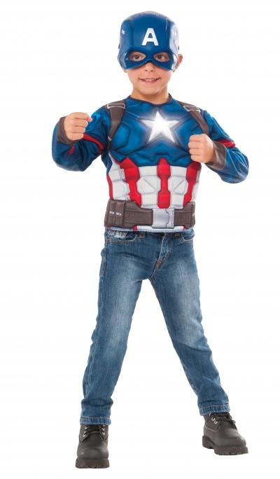 Captain America Muscle Chest Shirt Box Set