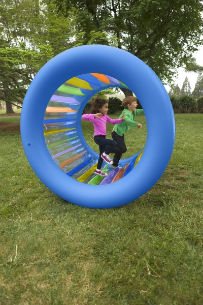 Roll With It Giant Inflatable Colorful Wheel
