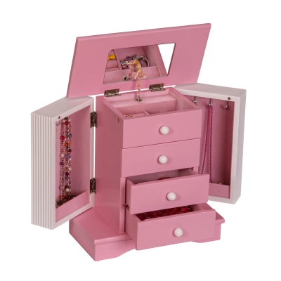 Mele & Co. Elise Girl's Wooden Musical Ballerina Jewelry Box