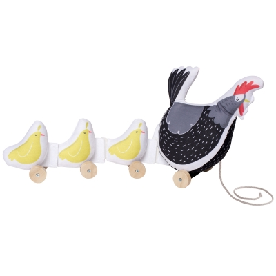 Farmer's Market Chicken Pull Toy