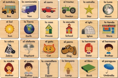 Teach 'n' Play Tiles - Spanish/English