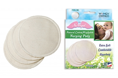 NuAngel Natural Cotton Washable Nursing Pads