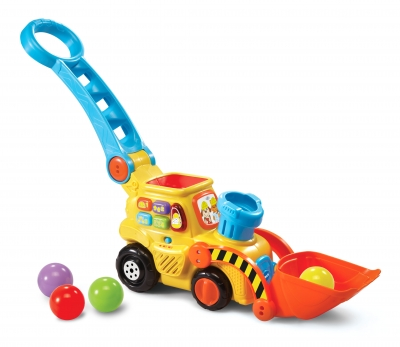 Pop-a-BallsTM Push & Pop BulldozerTM