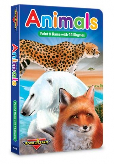 Books for Kids or Parents: Animals Board Book - Point & Name with 44 Rhymes
