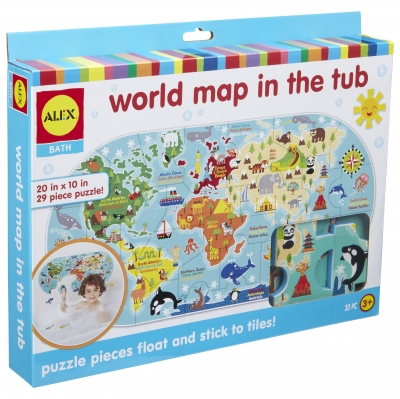 ALEX Toys Bath World Map in the Tub