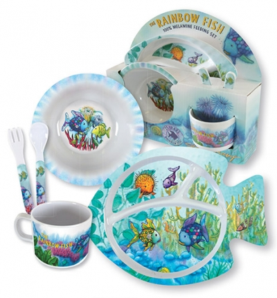 Rainbow Fish 100% Melamine Feeding Set
