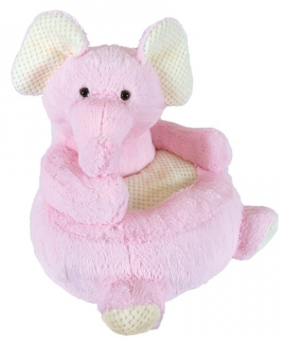 Plush Chair - Pink Elephant