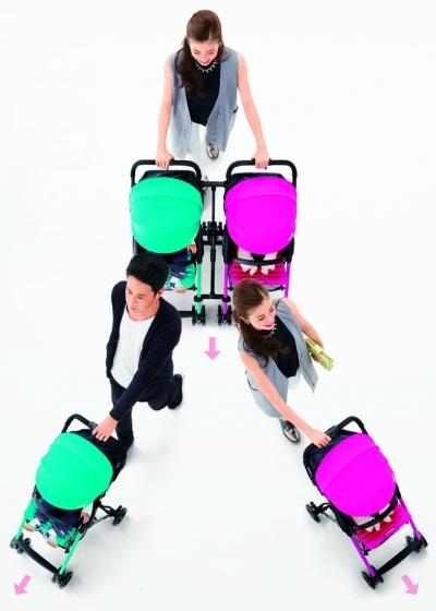 Combi F2 AF stroller and Joint Bar System