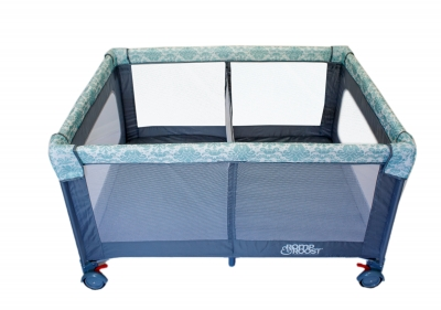 Romp & Roost Oversized Playard with Removable Divider-Damask