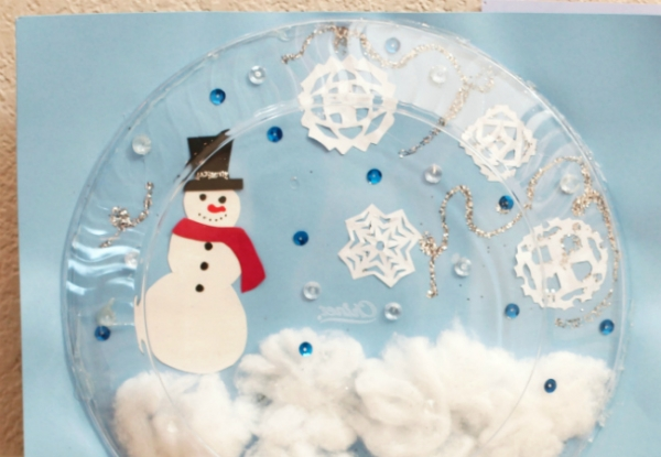 Keep Your Kids Busy And Using Their Brains This Winter Break With 3D Paper Snow Globe Craft Make Drawing Come To Life Just