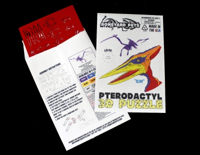 Miniature 3D Puzzle - Pterodactyl (by Boneyard Pets)