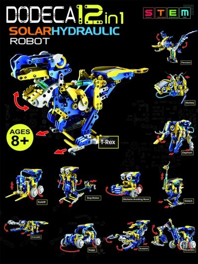 Dodeca 12 in 1 SolarHydraulic Robot
