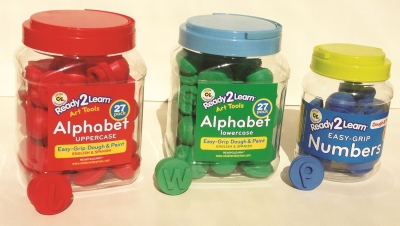 Ready2Learn KIT-UC/LC Eng/Span Dough & Paint Alphabets & Numbers