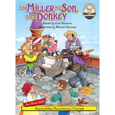 The Miller, His Son, and their Donkey