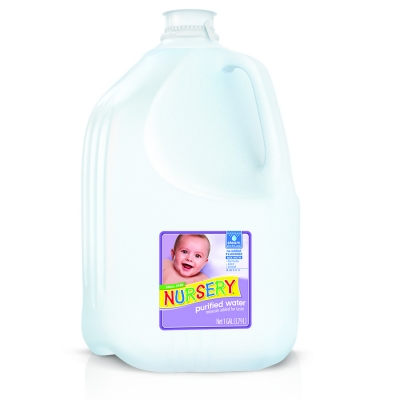 Nursery Water without added fluoride
