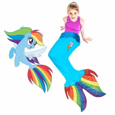 Blankie Tails - Rainbow Dash Sea Pony Blanket - Blue