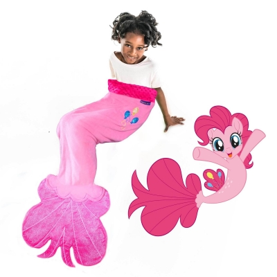 My Little Pony Pinkie Pie Sea Pony Blanket - Pink